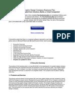 Free Graphic Design Company Business Plan