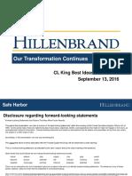 CL-King Conference Investor-Deck Final 9-9-16