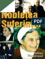 Nobletea Suferintei, de Sabina Wurmbrand