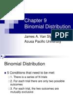 Chapter 9 - Binomial Distribution