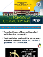The School and Community Partnership