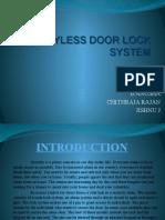 Keyless Door Lock System