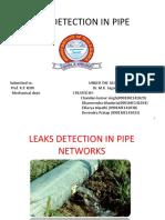 Leaks Detection in Pipe
