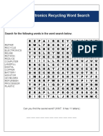 E Waste Word Search