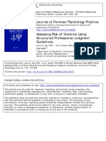 Assessing Risk of Violence Using Structured Professional Judgment Guidelines