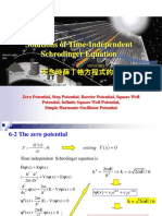 Solutions of Time-Independent Schrodinger Equation