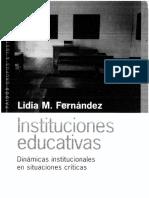 Fernandez , Lidia - Instituciones Educativas