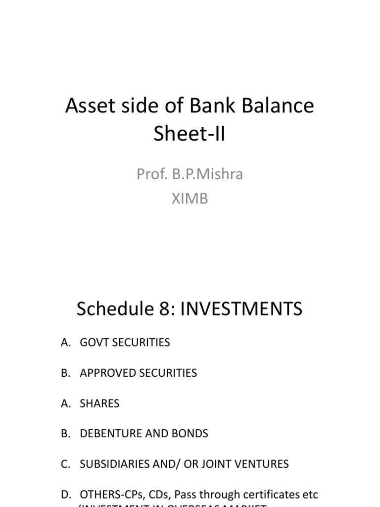 Schedule 8 9 | Asset Backed Security | Loans