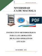 InstructivodeElaboraciónparalosPlanesOperativosUTMACH 20 Dic 11