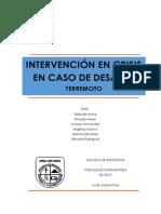 IntervenciónEnCrisis Terremoto