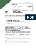 Formato Fp001 - Curriculum Vitae
