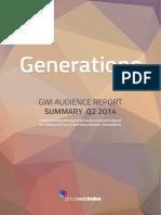 GWI Generations Summary Report Q2 2014