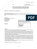 Influence of the Usual Motivation for Dental Attendance on Dental Status and Oral Health-related Quality of Life