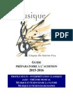 Musique Guide Preparatoire Examens Admission