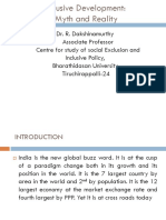 Inclusive Development Myth and Reality - Dr.R.Dakshinamurthy, Bharathidasan University, Tiruchira...
