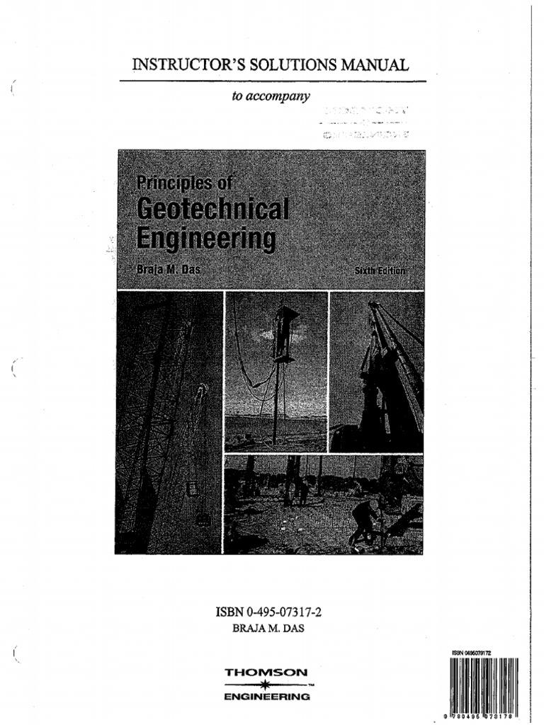 Solutions Manual of Principles of geotechnical engineering (6th ed) - Braja  M. Das.pdf