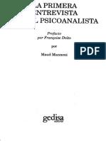 Mannoni, M. - La Primera Entrevista Con El Psicoanalista