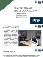 Informe de Balance Financiero de Caja Arequipa