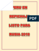 Peru en Repichaje Listo Para Rusia 2018