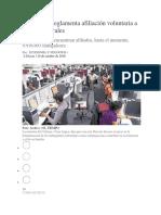 Mintrabajo Reglamenta Afiliación Voluntaria a Riesgos Laborales