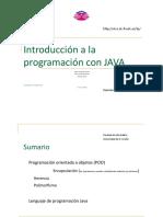 Introducción a La Programacion Con JAVA