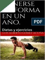 Ponerse en Forma en Un Año Dietas y Ejercicios - Moshe Dayan Gómez Pico