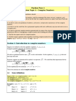 revision complex numbers.doc