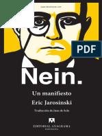 Nein Un Manifesto Eric Jarosinski