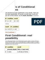 Structure of Conditional Sentences