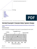 Sample Water System Design