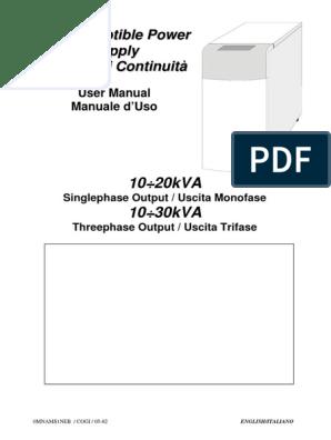 Ups Aros Sentry Multistandard 10 30 Kva Manual | Power Inverter