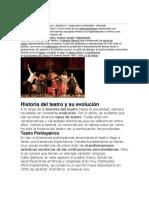 El teatro su evolución características herramientas
