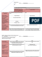 comprehension assessment assignment template