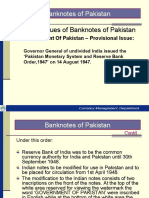 Various Issues of Banknotes of Pakistan