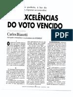 Das Excelências do Voto Vencido