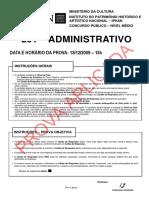 Prova Iphan 2009 - Auxiliar Institucional