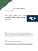 Ethos Pathos and Logos- The Benefits of Aristotelian Rhetoric