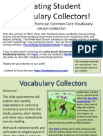 !Introduction to Vocabulary Collecting