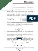 Design procedure for torsion