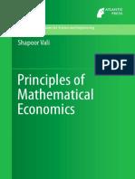 Principles of Mathematical Economics