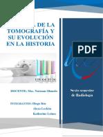 Historia y Evolucion Tomografia