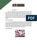 Pewarnaan Dan Motif Batik Madura