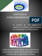 Capitulo III Clima Organizacional