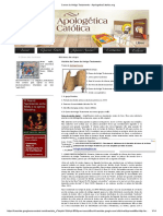 Canon Do Antigo Testamento - ApologeticaCatolica
