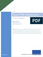 White Paper Good Old Mathematics