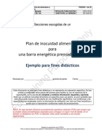 FSPCA PressedBar FSP Spanish