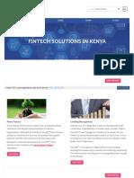 Fintech Solutions in Kenya