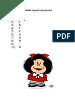 Mafalda Risponde Ai Giornalisti-Ramirez Sanchez Montserrat