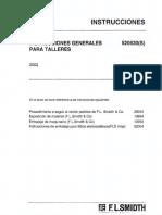 Instrucciones Generales Para Taller 520530(S) 2002