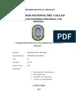 Organización Formal Proceso de Organización y Definición de Funciones